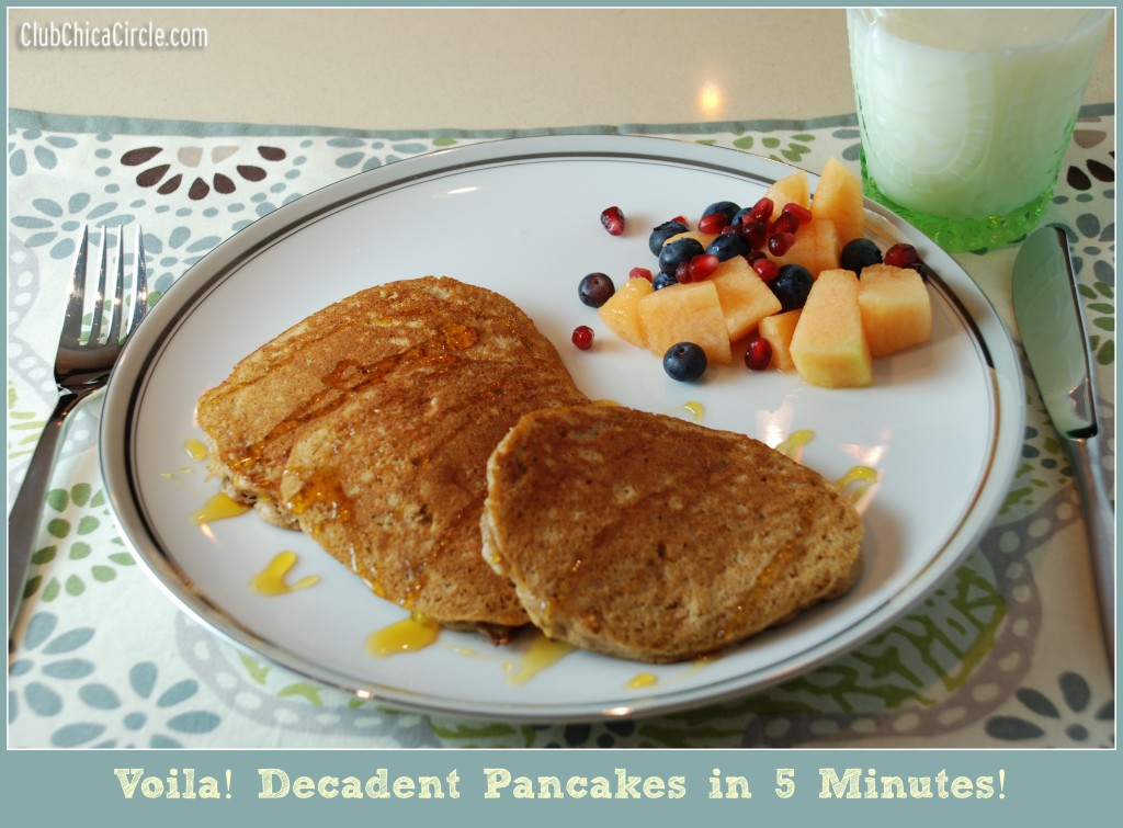 Decadent Pancakes in 5 Minutes