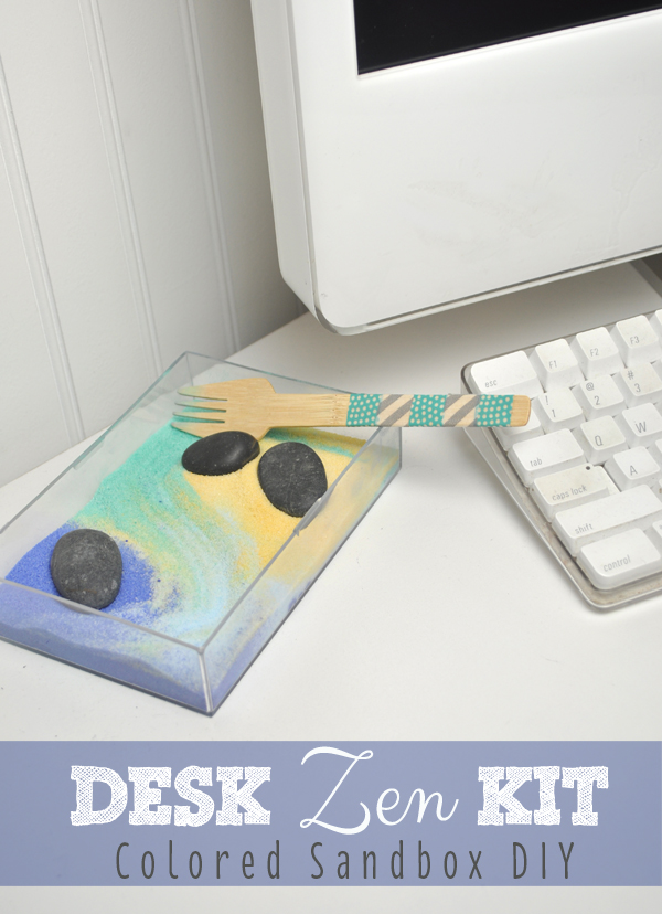 Desk Zen Colored Sand Box DIY KIT