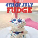 Five minute patriotic fudge recipe @clubchicacircle