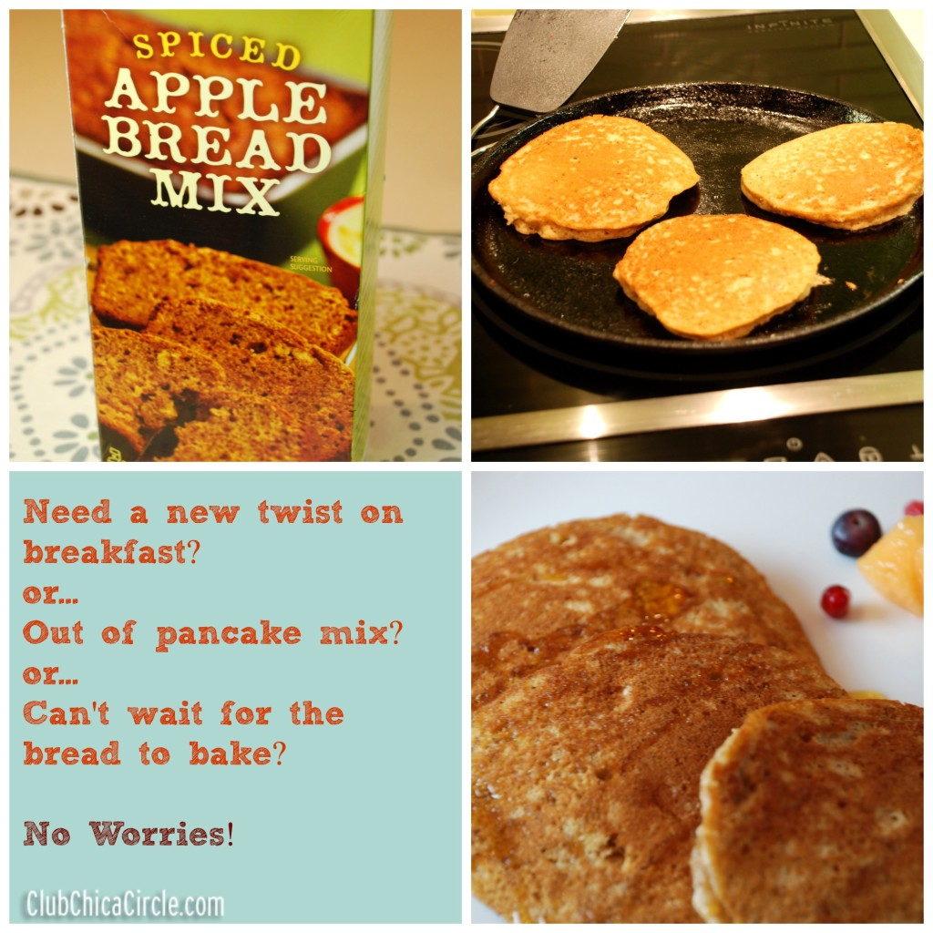Simple Bread Mix to Pancakes Collage