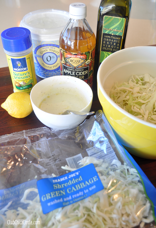 homemade greek yogurt slaw recipe