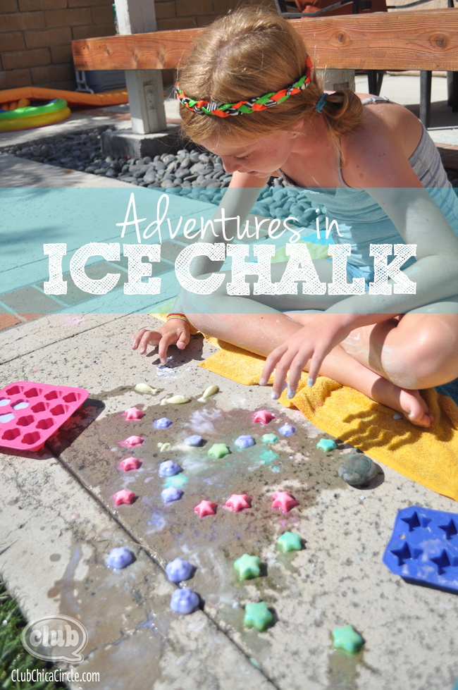 How to make colored ice chalk that sizzles for Easy crafts for tweens
