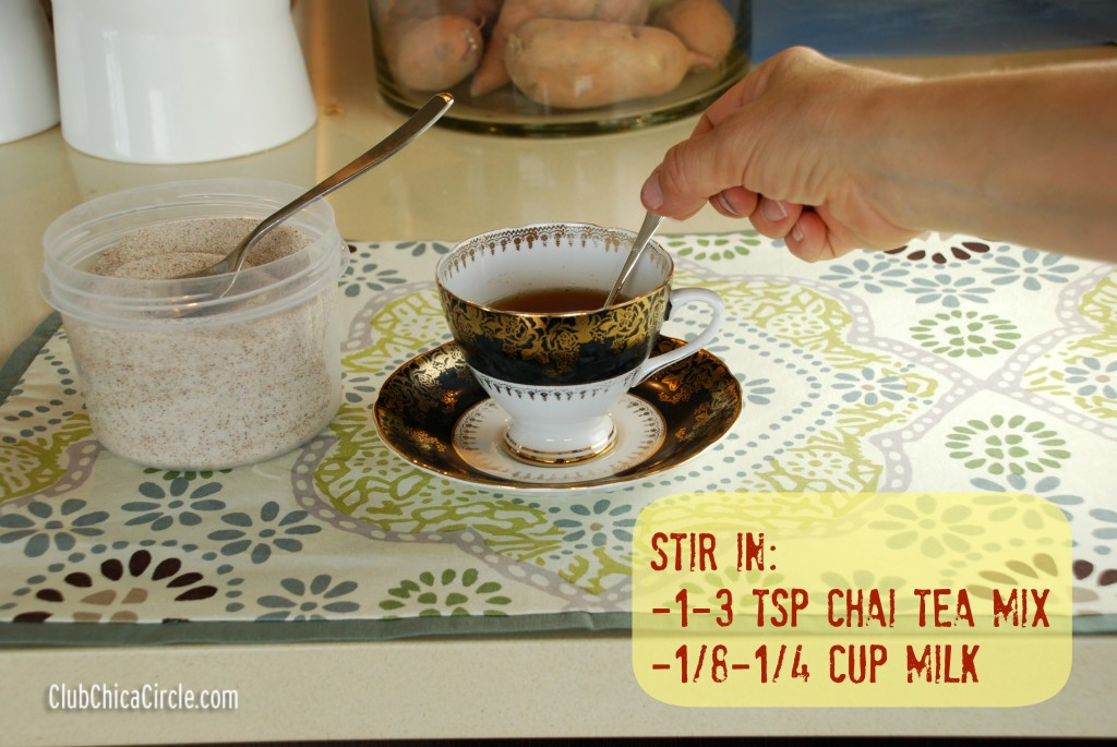Add Chai Tea Mix to Hot Tea