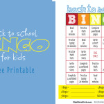 BACK TO SCHOOL BINGO for tween