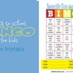 BACK TO SCHOOL BINGO for tween
