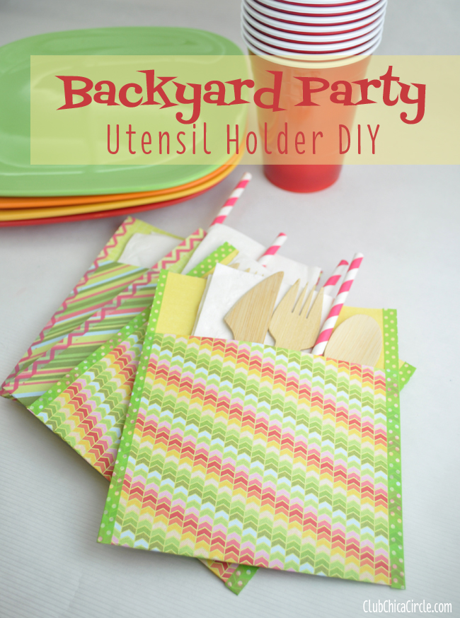 Backyard Party Utensil Holder tutorial