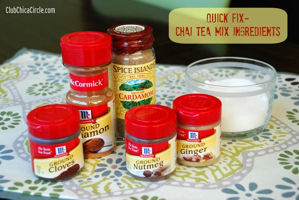 Chai Tea Mix Ingredients