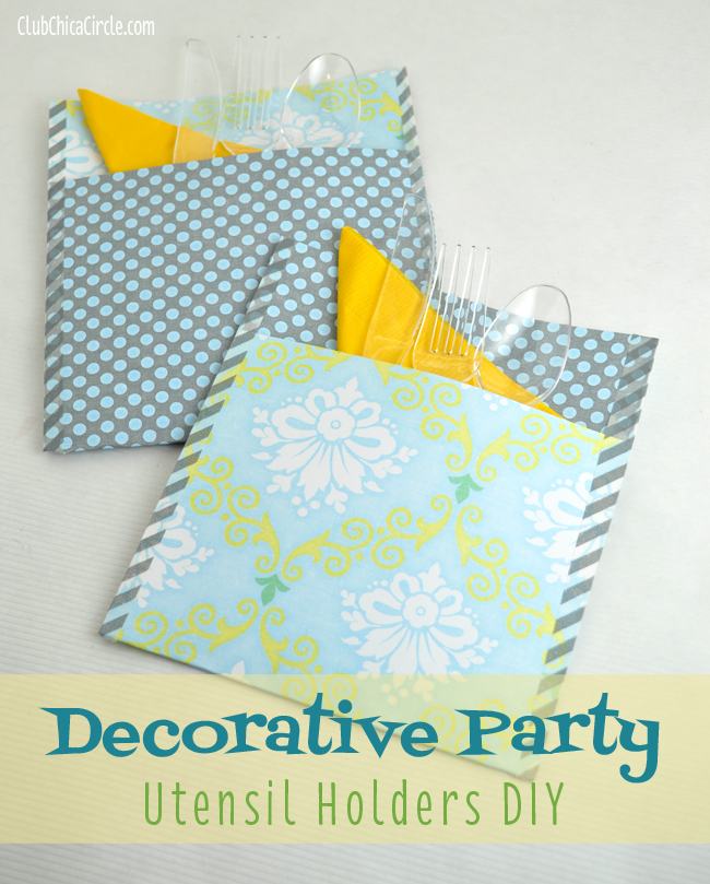 Decorative party utensil holders