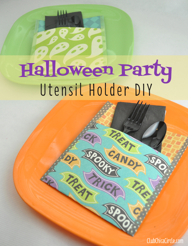 Halloween Party utensil holder DIY