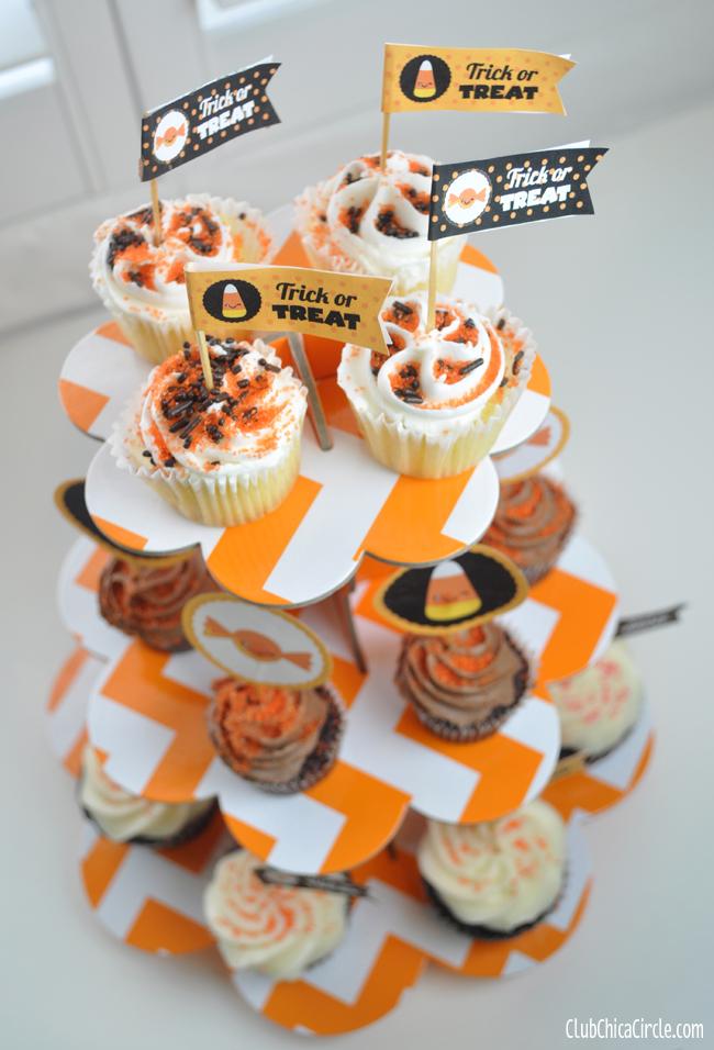 Halloween cupcake tower free printables