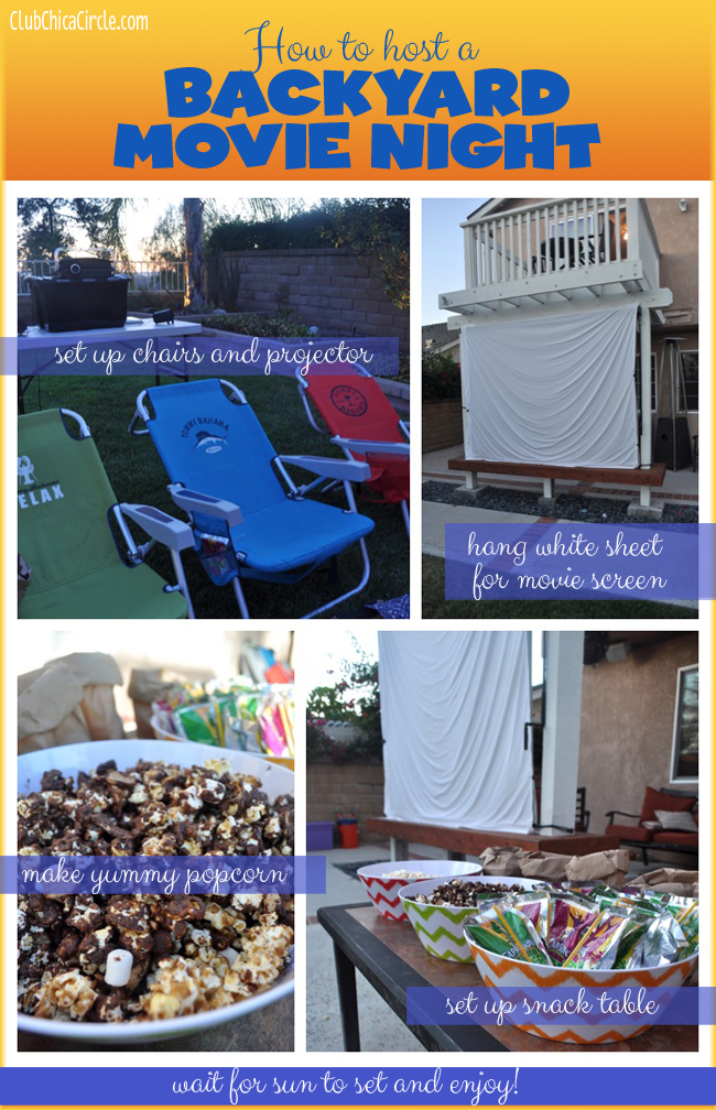 How to Host a backyard family night with capri sun and popcorn