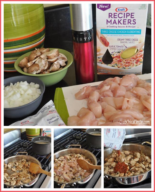 Kraft Recipe Makers Chicken Florentine recipe idea