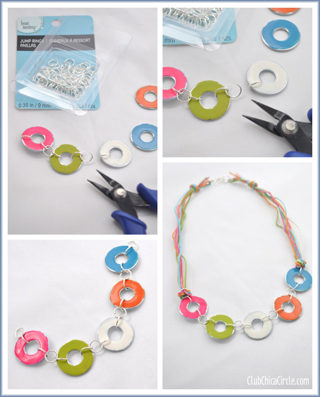Metal Washer Nail Polish Necklace Craft Idea for Girls