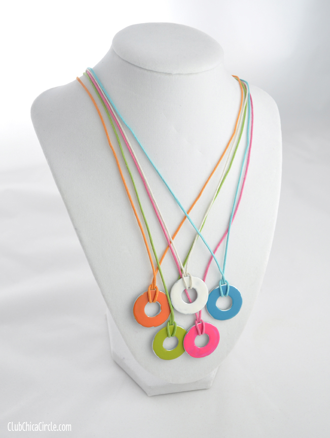 Metal Washer Upcycle Necklace DIY Super Buddies Rings of Inspiron Super Power Friendship Necklaces