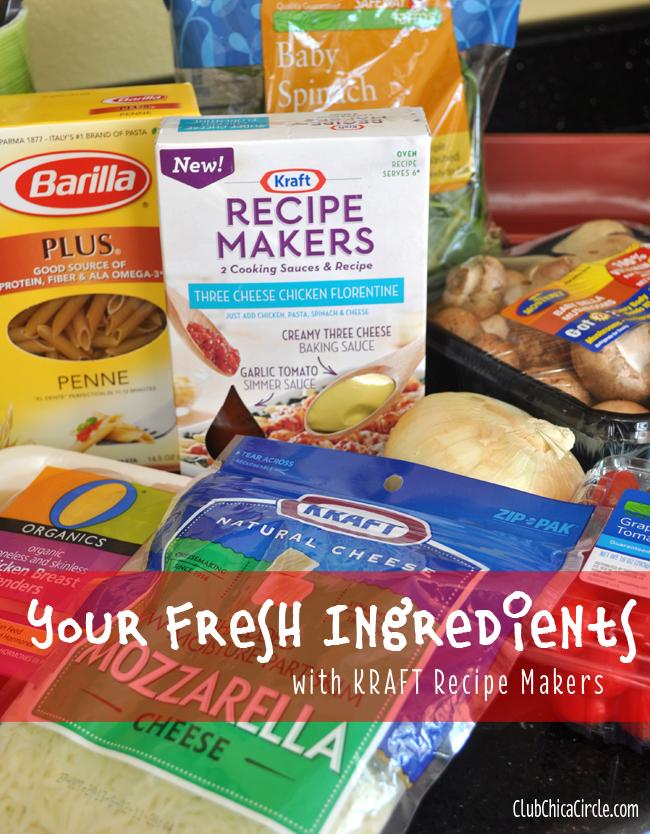 Recipe Makers Chicken Florentine fresh ingredients