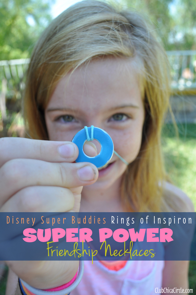Rings of Inspiron BFF necklace craft for tween girl Super Buddies Rings of Inspiron Super Power Friendship Necklaces