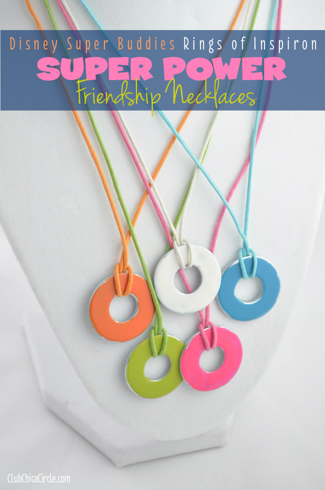 Rings of Inspiron Friendship Necklaces Craft Idea DIY Super Buddies Rings of Inspiron Super Power Friendship Necklaces