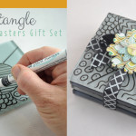 Zentangle homemade coasters gift set feature