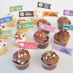 free cupcake printable party flags