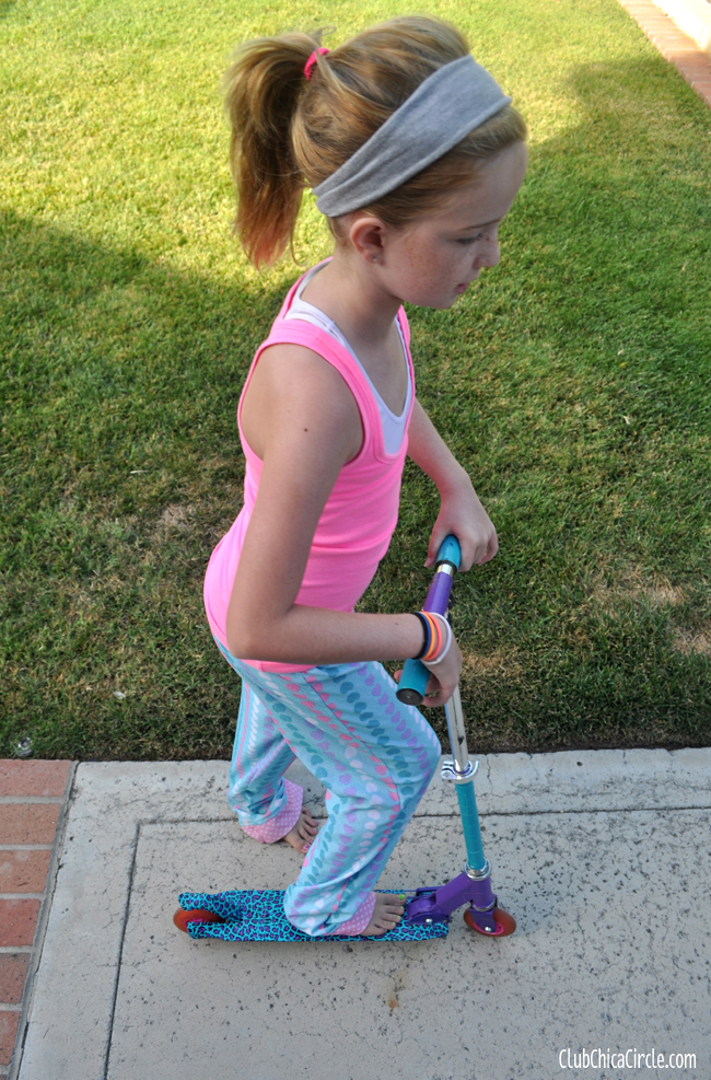 tween upcycled scooter duct tape craft @clubchicacircle