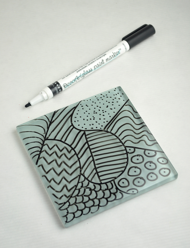zentangle coaster DIY step 3