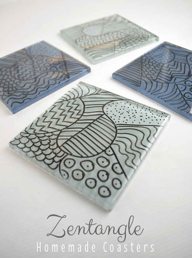 zentangle coasters craft idea