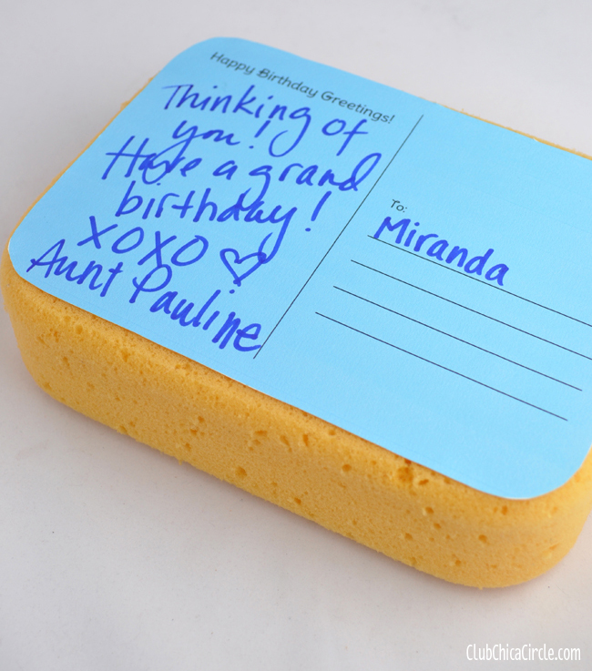 Birthday Postcard Mailer Spongecake