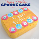 Birthday Sponge Cake Postcard Craft Idea
