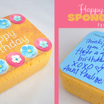 Birthday Sponge Cake Postcard Gift Idea