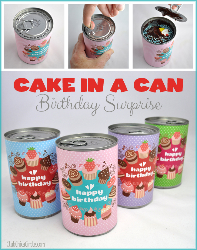 Birthday Cake In A Can Tutorial The 36th AVENUE