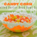 Candy Corn Melted Perler Bead Tween Craft Idea feature