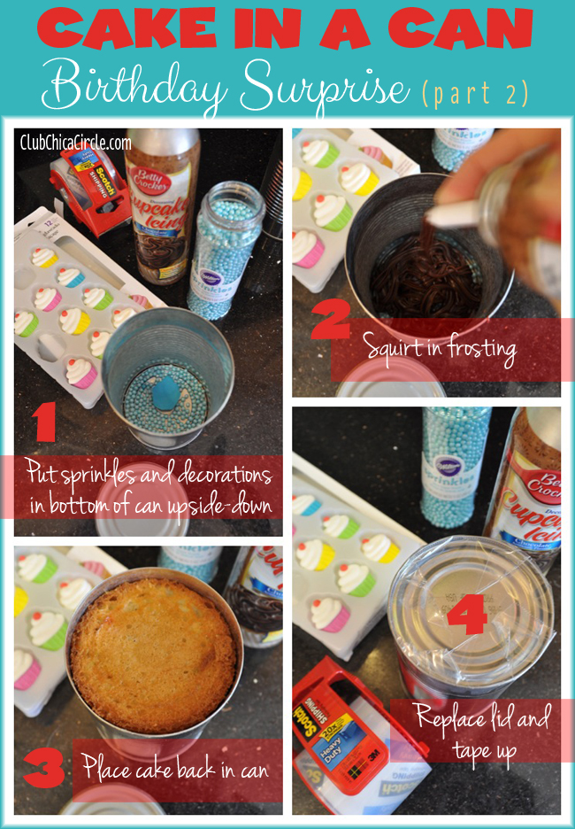 Cupcake in a can assembly steps Part 2