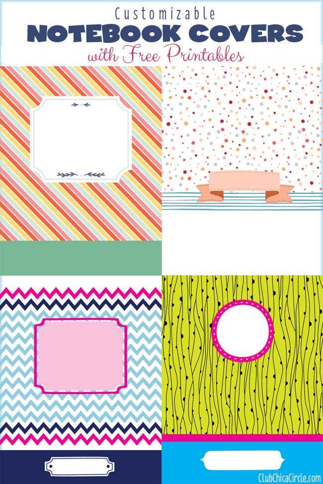 Notebook Cover Printable ~ Get organized with customizable notebook cover printables