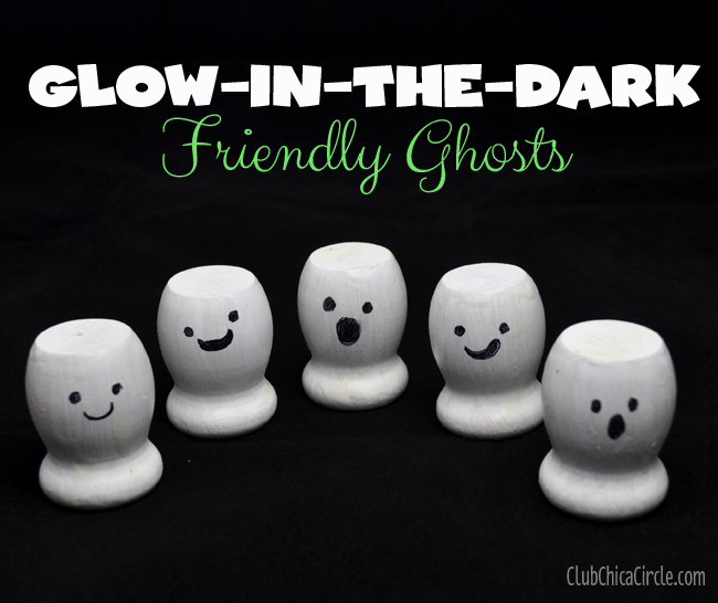 Friendly Ghosts Halloween craft idea