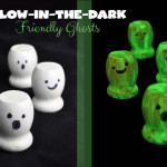 Glow-in-the-dark friendly ghost craft idea for kids