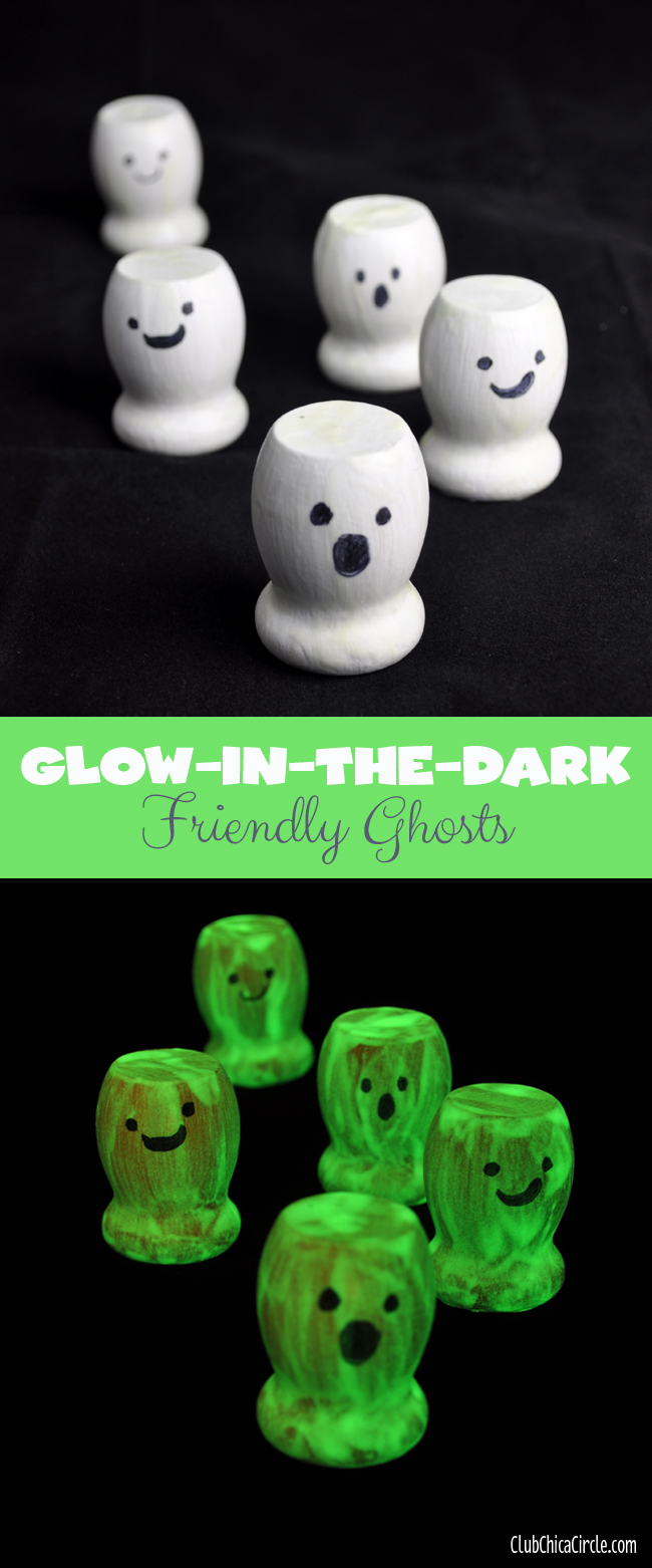 Glow-in-the-dark friendly ghost craft