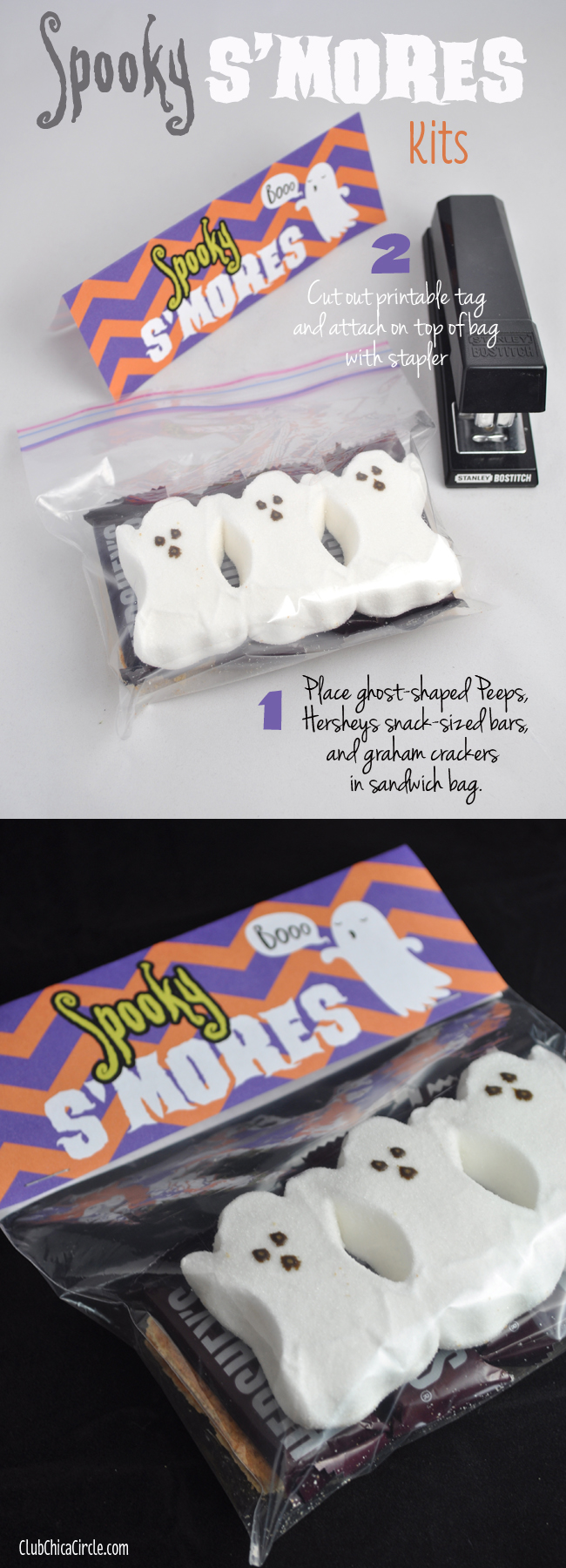Spooky S'mores Kits with Free Printable | Club Chica Circle - where ...