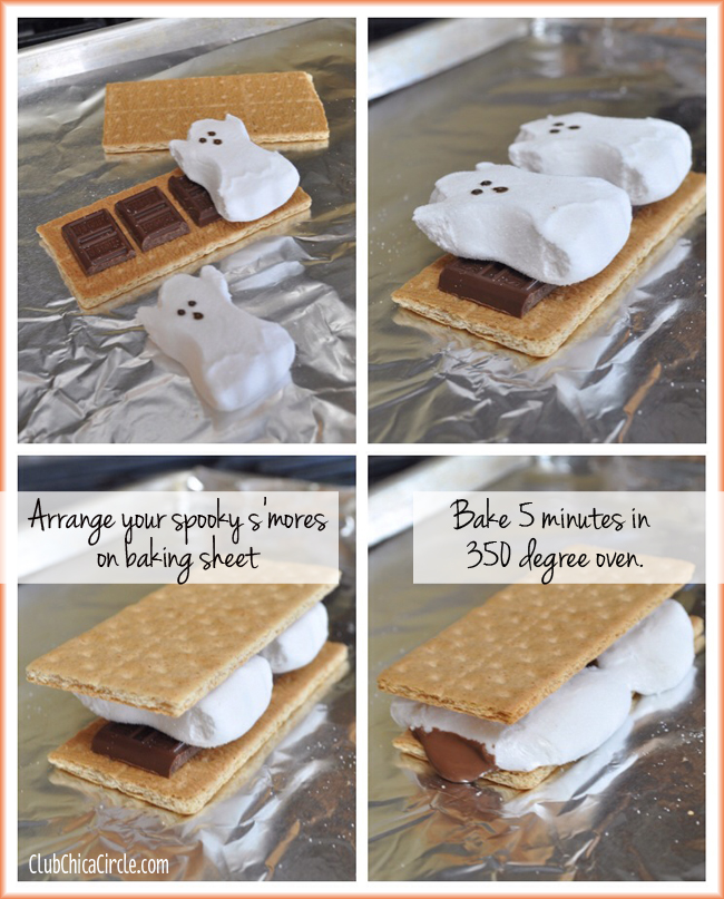 How to make spooky smores with Halloween ghost marshmallow Peeps