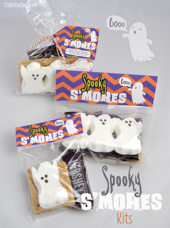Spooky Smores Kits for easy Halloween Treat