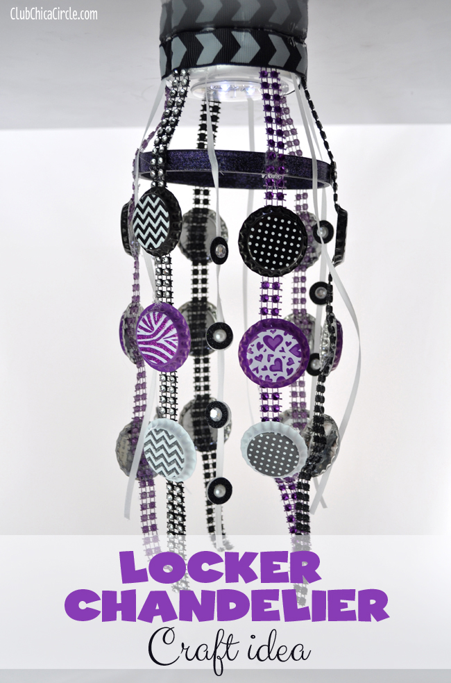 locker chandelier craft idea for tween girl @clubchicacircle