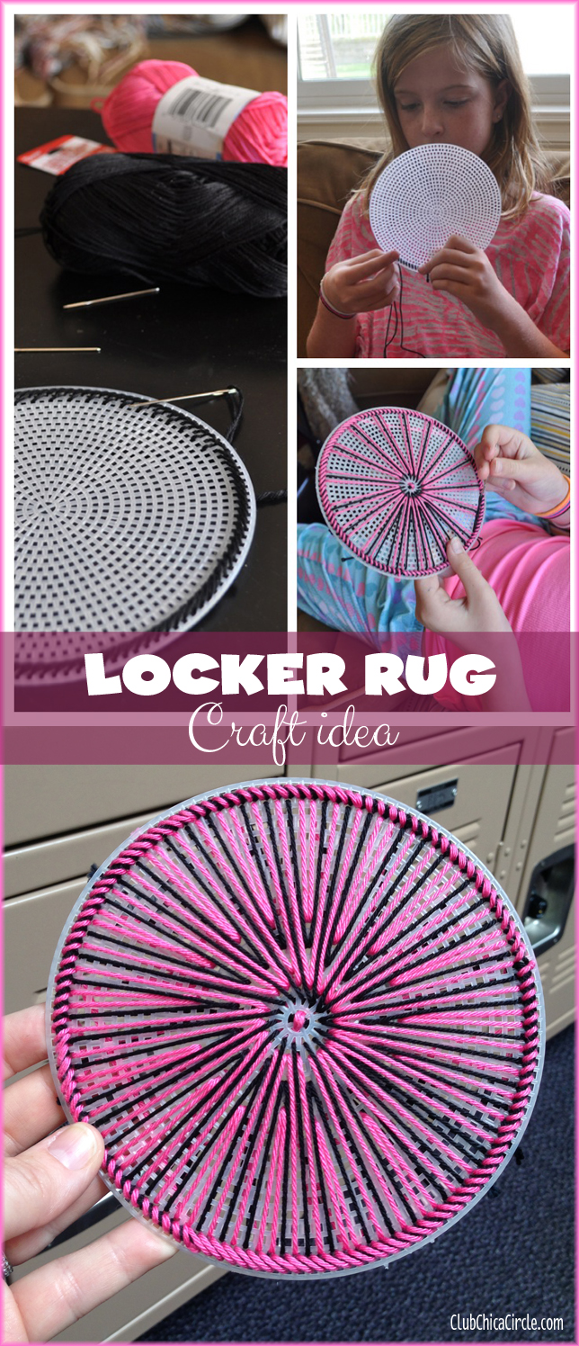 locker embroidery rug tween craft idea