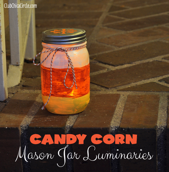Candy Corn Mason Jar Luminaries