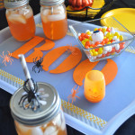 Boo Stenciled Halloween Party Tray