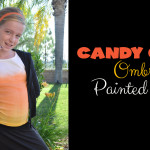 Candy Corn Ombre Painted Shirt tutorial