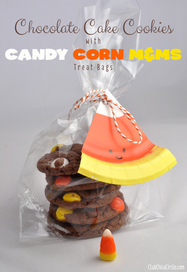 Candy Corn gift tags and cookie treats @clubchicacircle