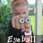 Eyeball homemade ring craft idea