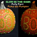 Glow in the Dark Puffy Paint Pumpkin Decorating Idea @clubchicacircle