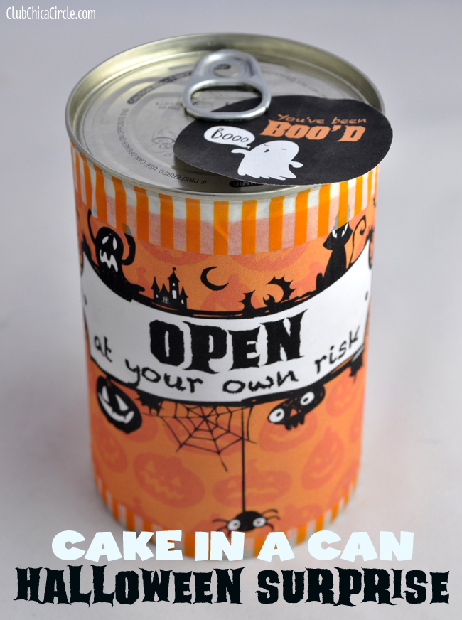 Halloween Cake in a Can Surprise You've Been Boo'd