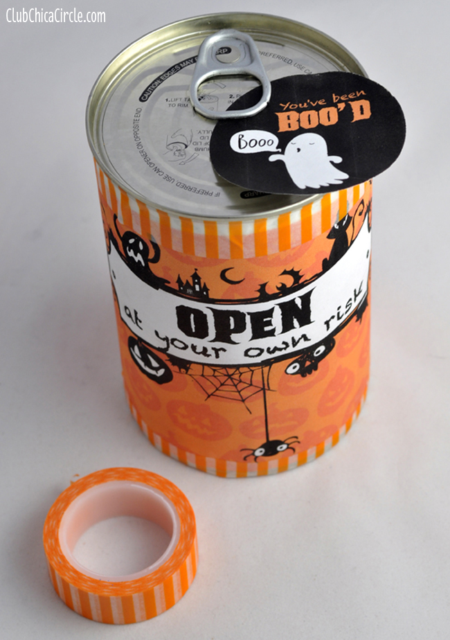 Halloween Surprise Cake in a Can Gift Idea @clubchicacircle