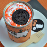 Halloween Surprise Cake in a Can Surprise with free printable